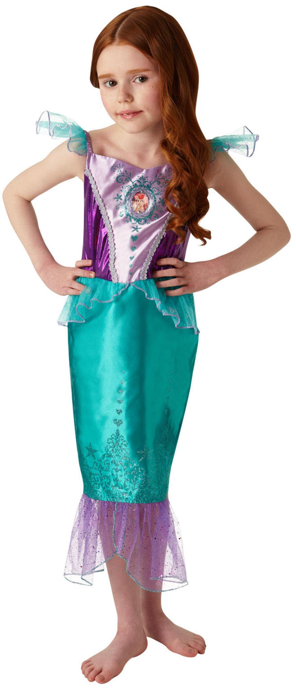 Ariel Gem Princess Girls Fancy Dress Disney Little Mermaid Book Day Kids Costume