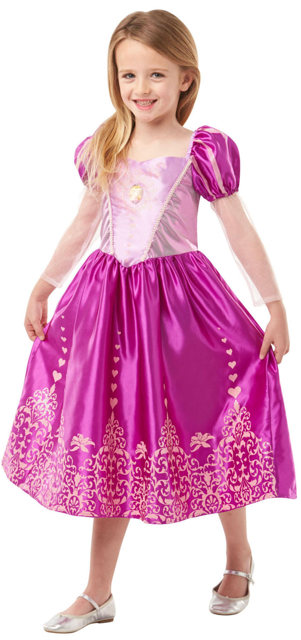 Rapunzel Gem Princess Girls Fancy Dress Disney Tangled Fairy Tale Kids Costume