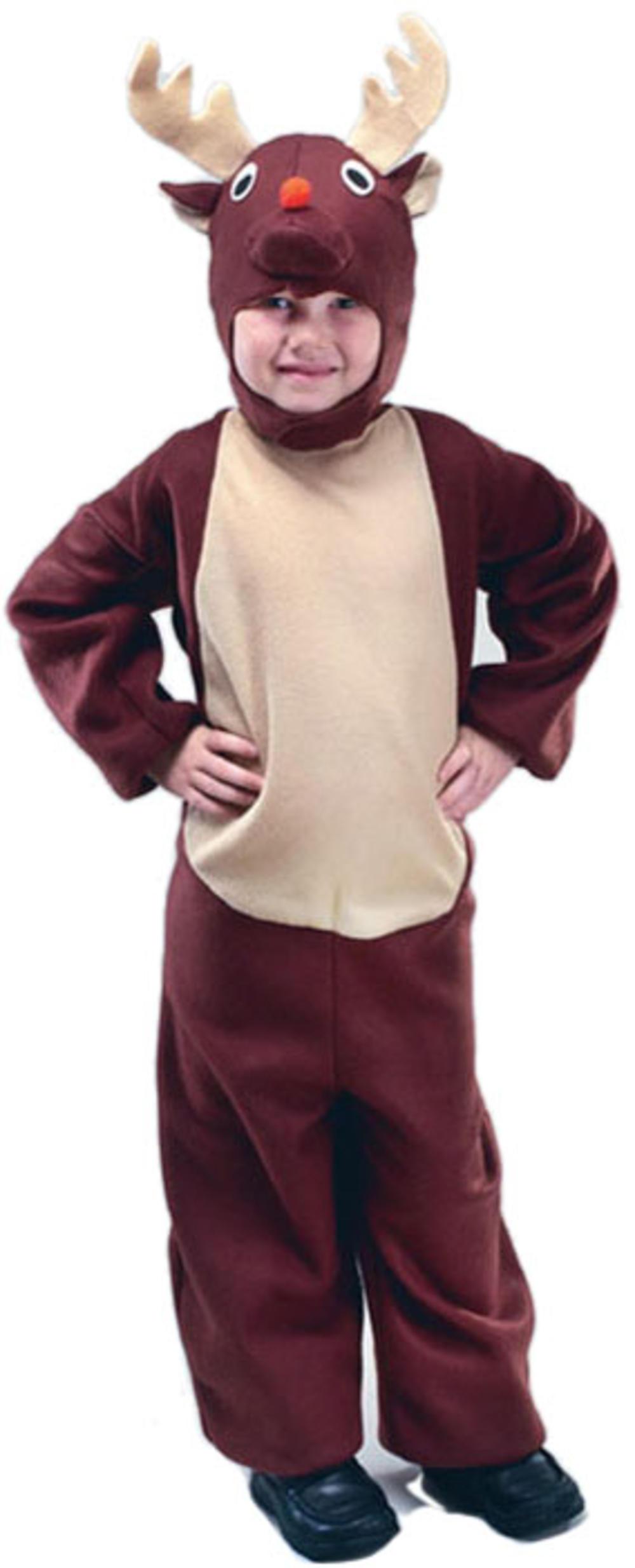 Reindeer Kids Fancy Dress Rudolph Christmas Animal Boys Girls Costume Outfit