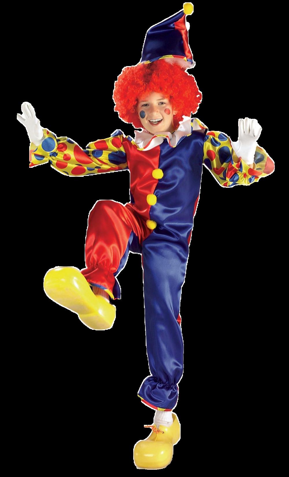 Bubbles the Clown Boys Fancy Dress Childrens Kids Costume + Hat Ages 3-10 - New