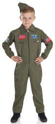 Air Cadet Aviator Boys Fancy Dress Military Uniform RAF Pilot Army Kids Costume