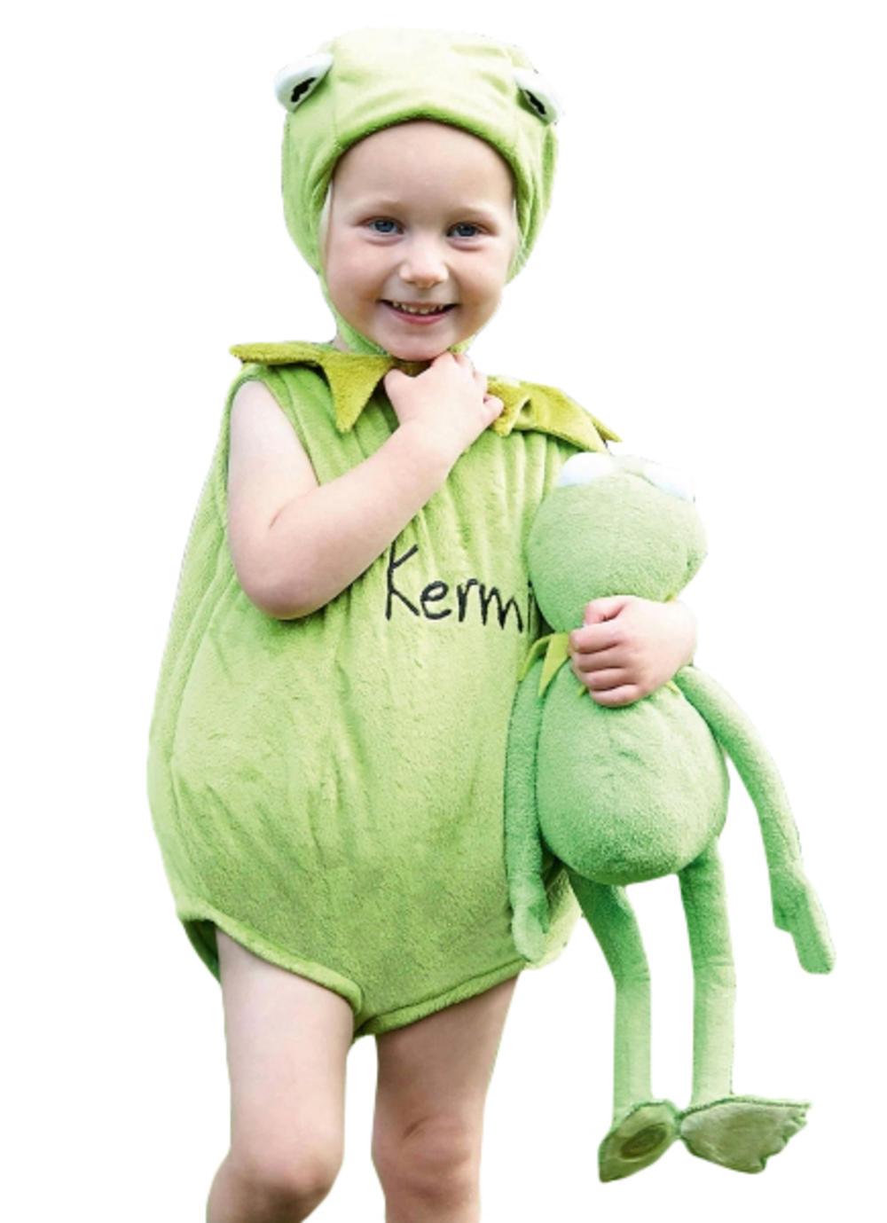 Kermit The Frog Kids Fancy Dress Disney Muppets Animal Boys Girls Infant Costume