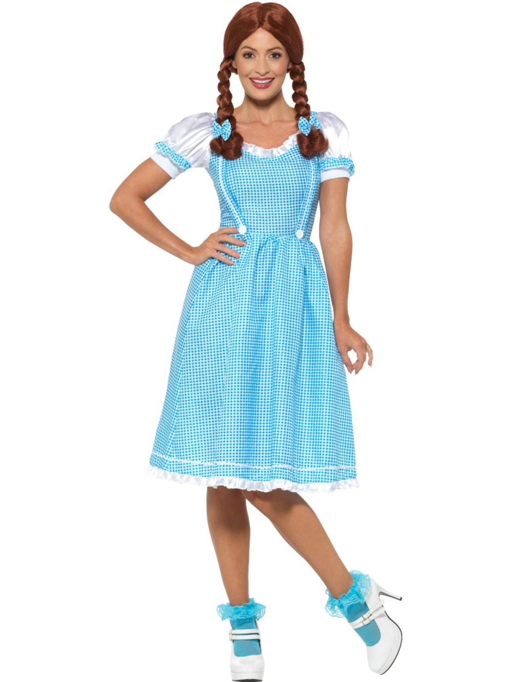 Kansas Country Girl Ladies Fancy Dress Dorothy Book Day Fairytale Womens Costume