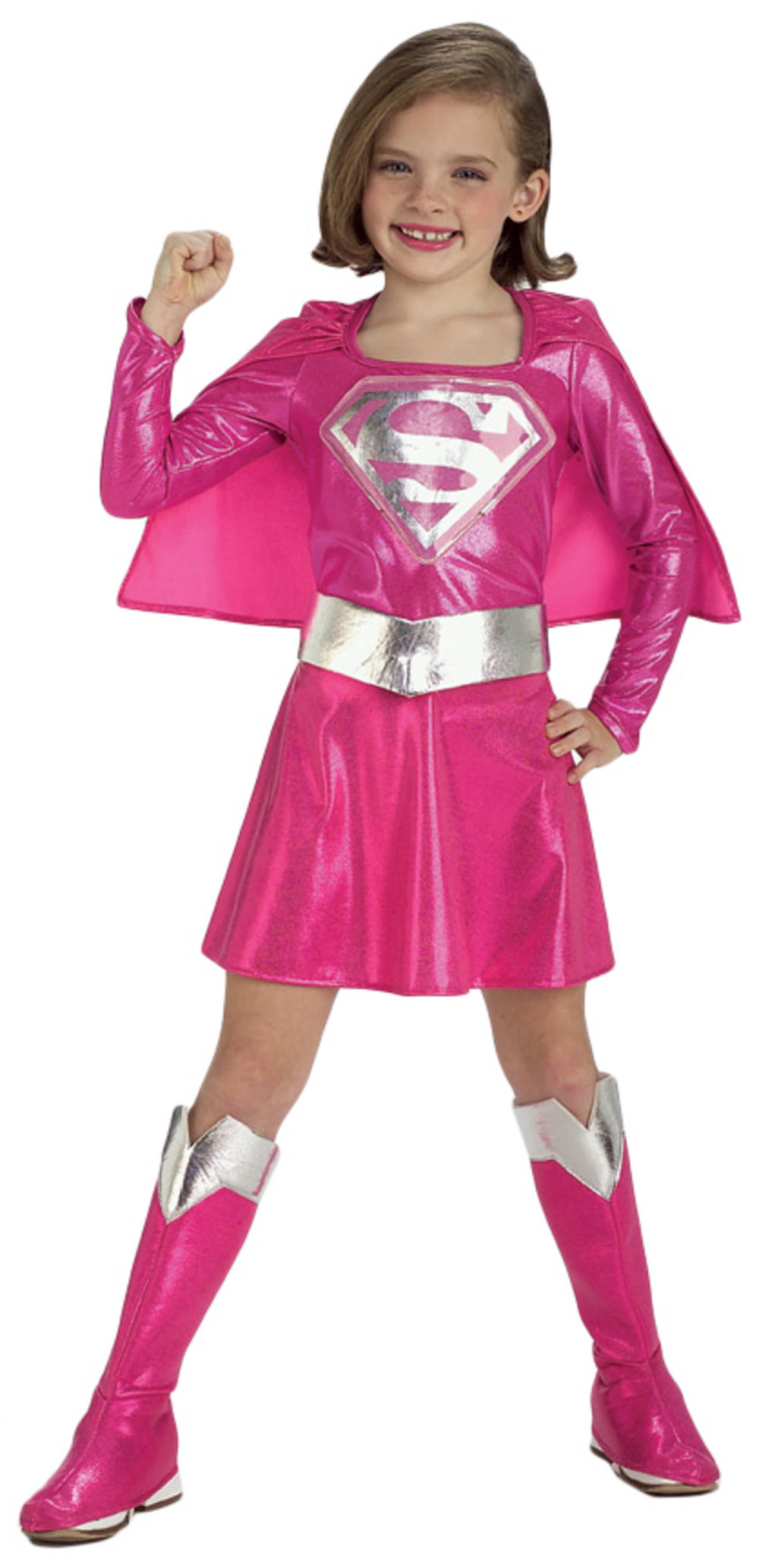 Girlu0027s Pink Supergirl Costume  sc 1 st  Mega Fancy Dress & Girlu0027s Pink Supergirl Costume | TV Book and Film Costumes | Mega ...