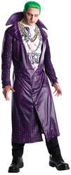 Joker Mens Fancy Dress Halloween Villain Suicide Squad Adults Costume Outfit New