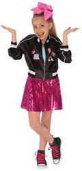 Jojo Siwa Bomber Jacket Girls Fancy Dress Celebrity Music Diva Childs Kid Outfit