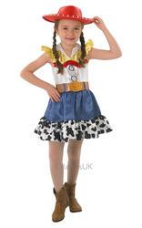 Jessie + Hat Toy Story Girls Fancy Dress Kids Cowgirl Disney Western Costume New