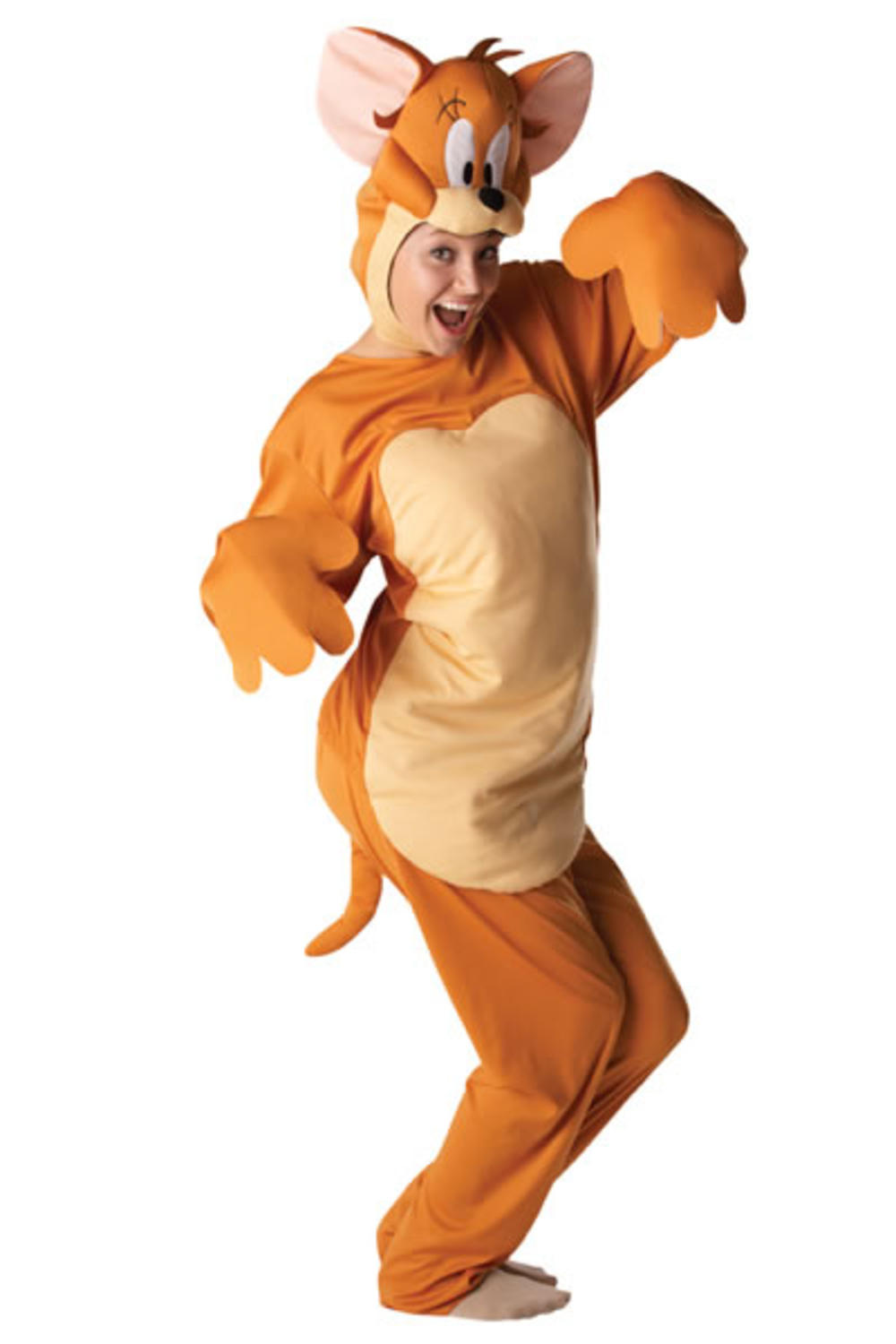 Jerry Mouse Cartoon Character Adult Fancy Dress Tom & Jerry Costume Outfit New