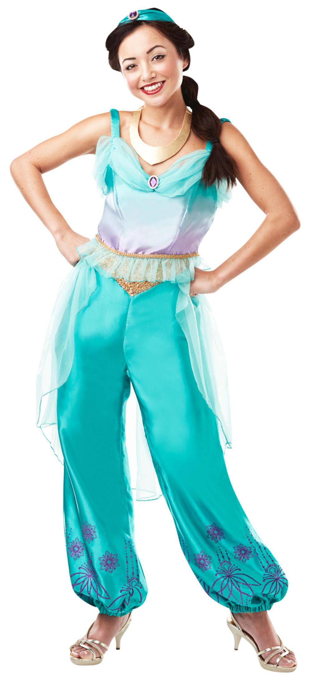 Princess Jasmine Ladies Fancy Dress Official Disney Aladdin Womens Adult Costume