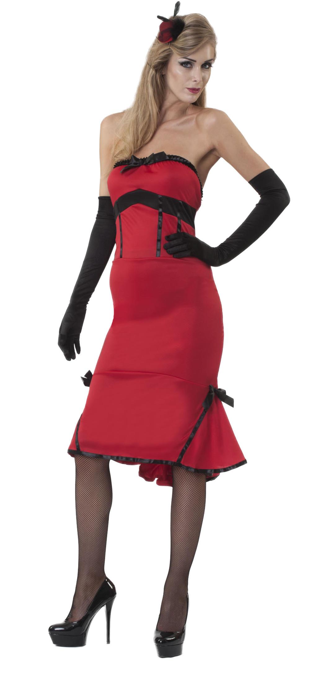 Ladies Jade Inferno Showgirl Fancy Dress Saloon Girl Burlesque 20s Adult Costume