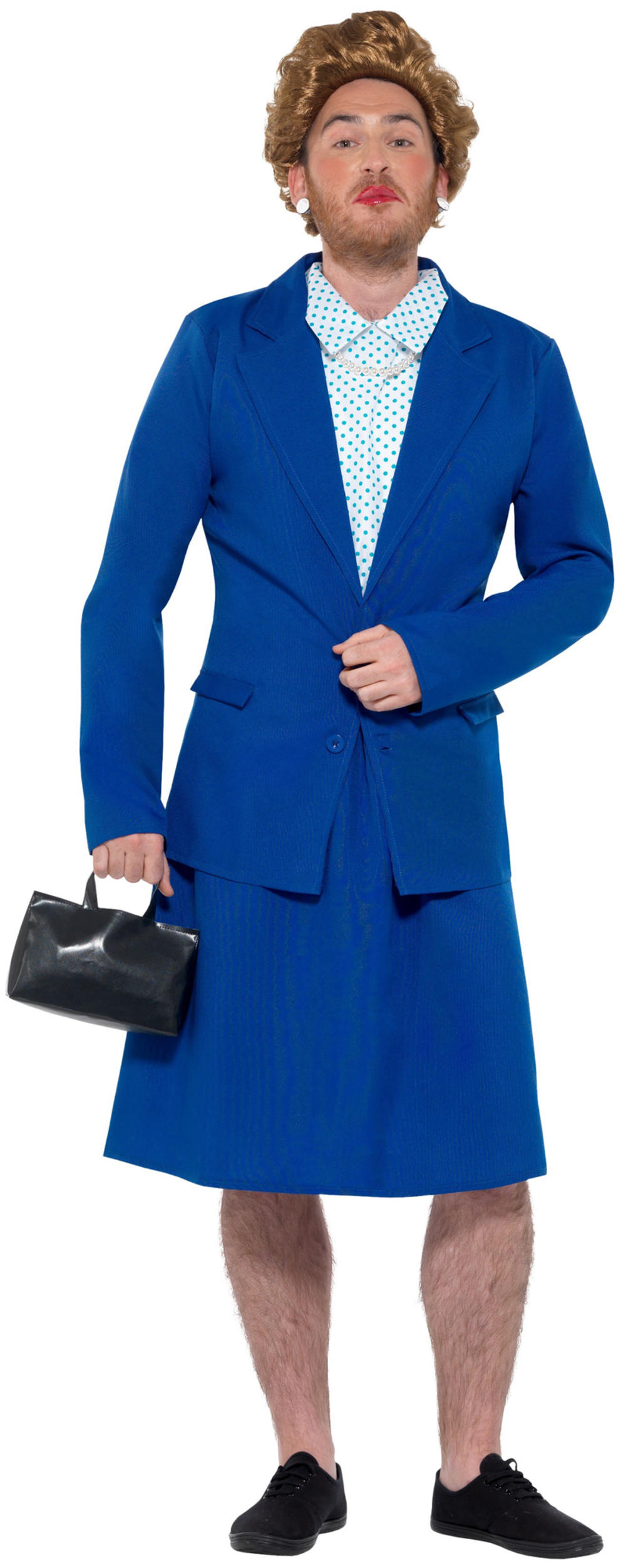 Iron Lady Prime Minister Mens Fancy Dress Margaret Thatcher 1980s Adults Costume