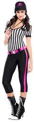 Football Referee Ladies Fancy Dress Sports Soccer Uniform Womens Adults Costume