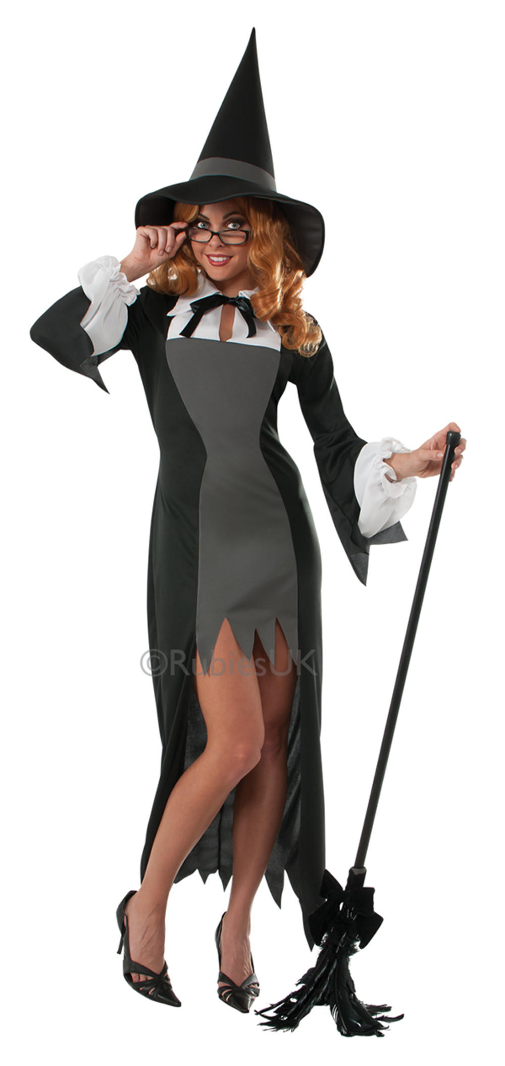 Puritan Witch Teacher Ladies Fancy Dress Halloween Adults Book Costume Outfit