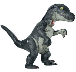 Inflatable Blue Velociraptor Adults Costume
