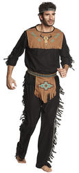 Indian Noble Wolf Mens Fancy Dress Wild West Native American Adults Costume