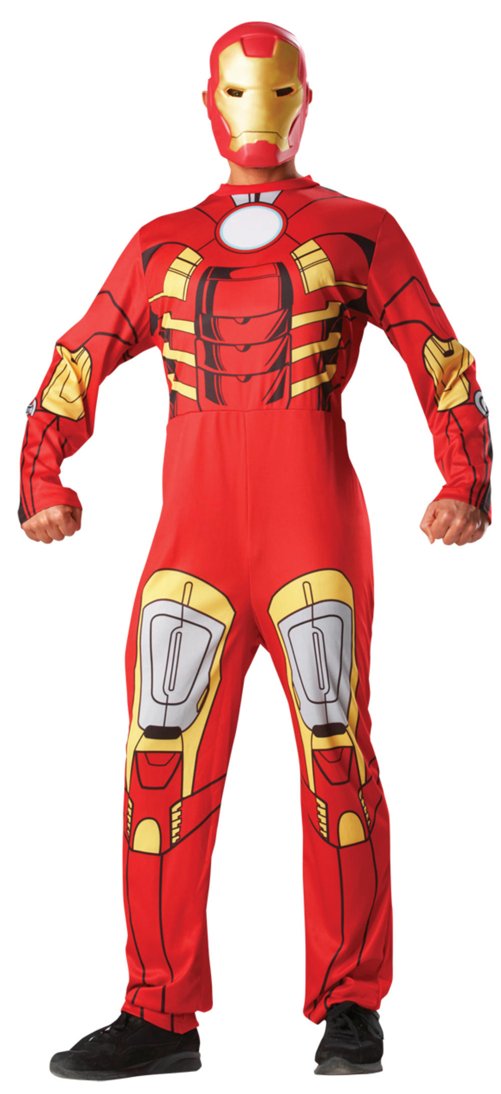 Iron Man + Mask Mens Avengers Superhero Movie Character Adults Costume Outfit