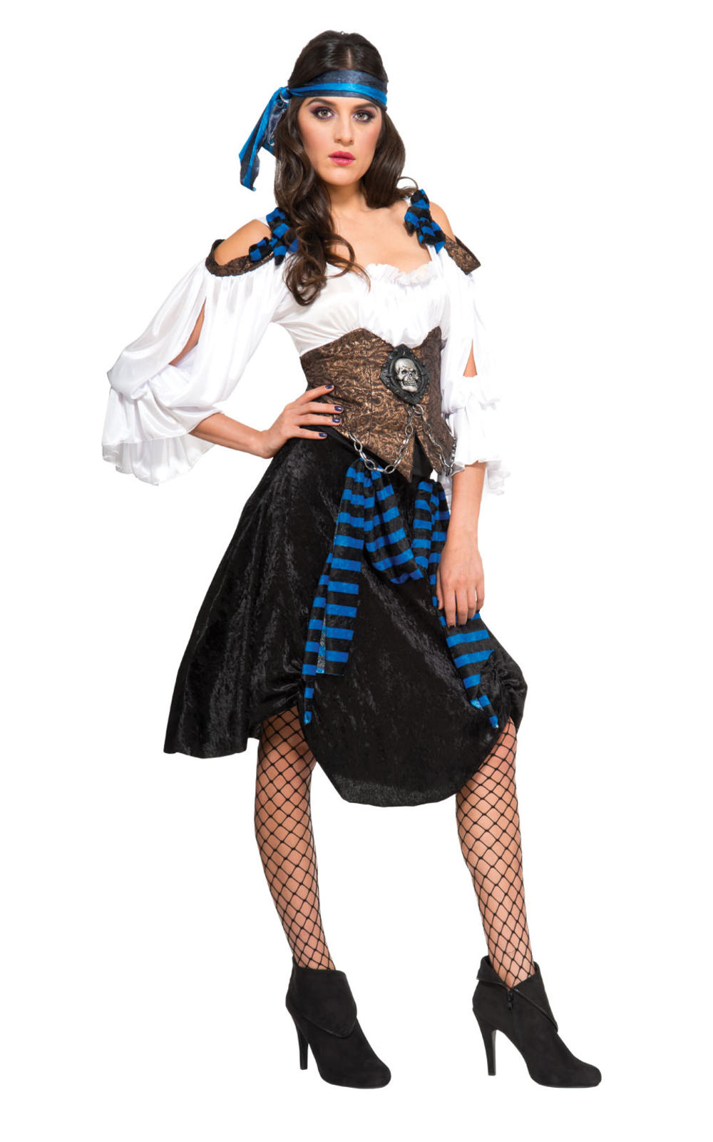 Rum Runner Pirate Ladies Fancy Dress High Seas Voyager Adults Book Day Costume