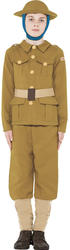 WW1 Army Soldier Boys Fancy Dress Military Uniform Childrens Kids Costume Outfit