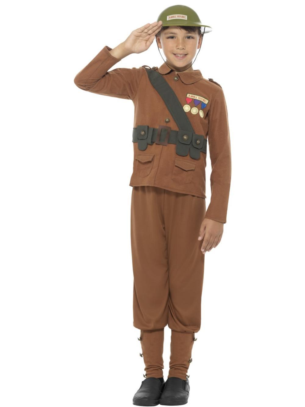 Horrible Histories Soldier Boys Fancy Dress World War II Book Day Childs Costume