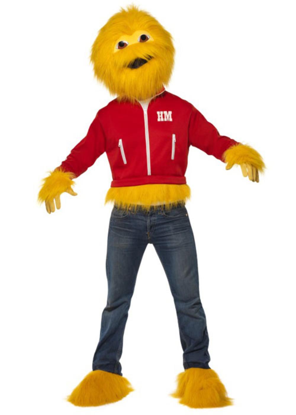 Honey Monster Mens Fancy Dress 1980s Retro Animal Adult Halloween Costume Outfit