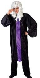 Mens Adult High Court Judge Barrister Black Robe Fancy Dress Costume Outfit
