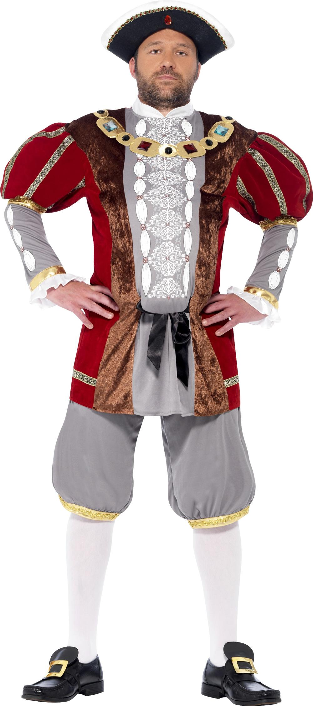 Henry VIII 8th  Deluxe Mens Fancy Dress Book Day Adult Monarch Royal Costume New