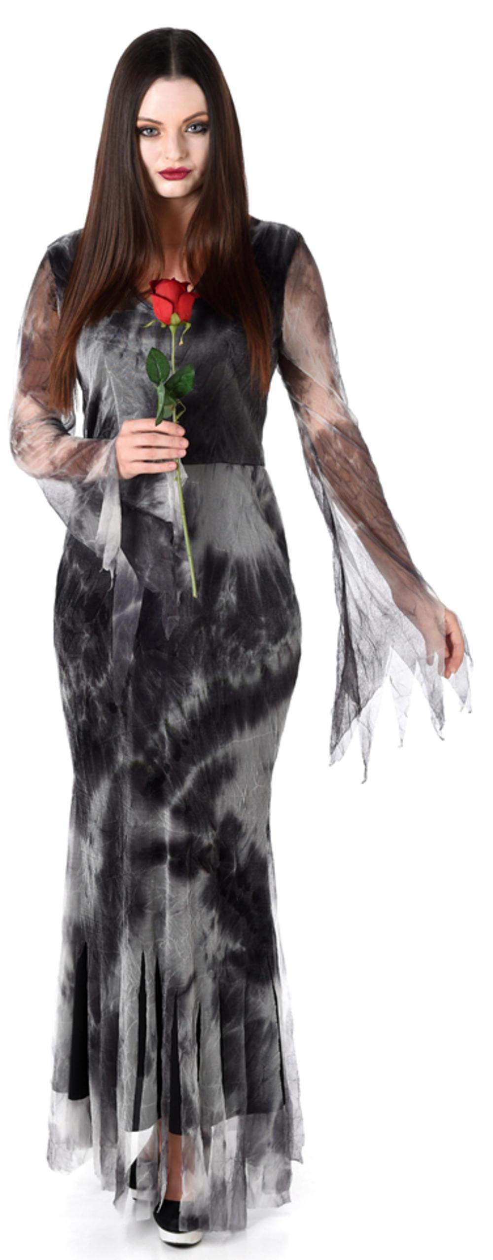 Haunted Ghost Widow Ladies Halloween Fancy Dress Spooky Womens Adults Costume