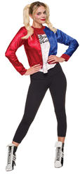 Harley Quinn Ladies Fancy Dress Suicide Squad Halloween Womens Villain Costume