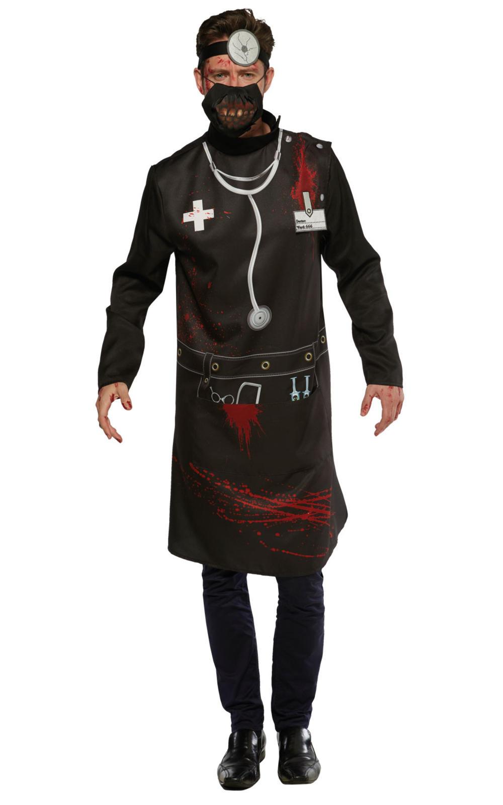 Horror Doctor Mens Halloween Fancy Dress Scary Gory Zombie Uniform Adult Costume
