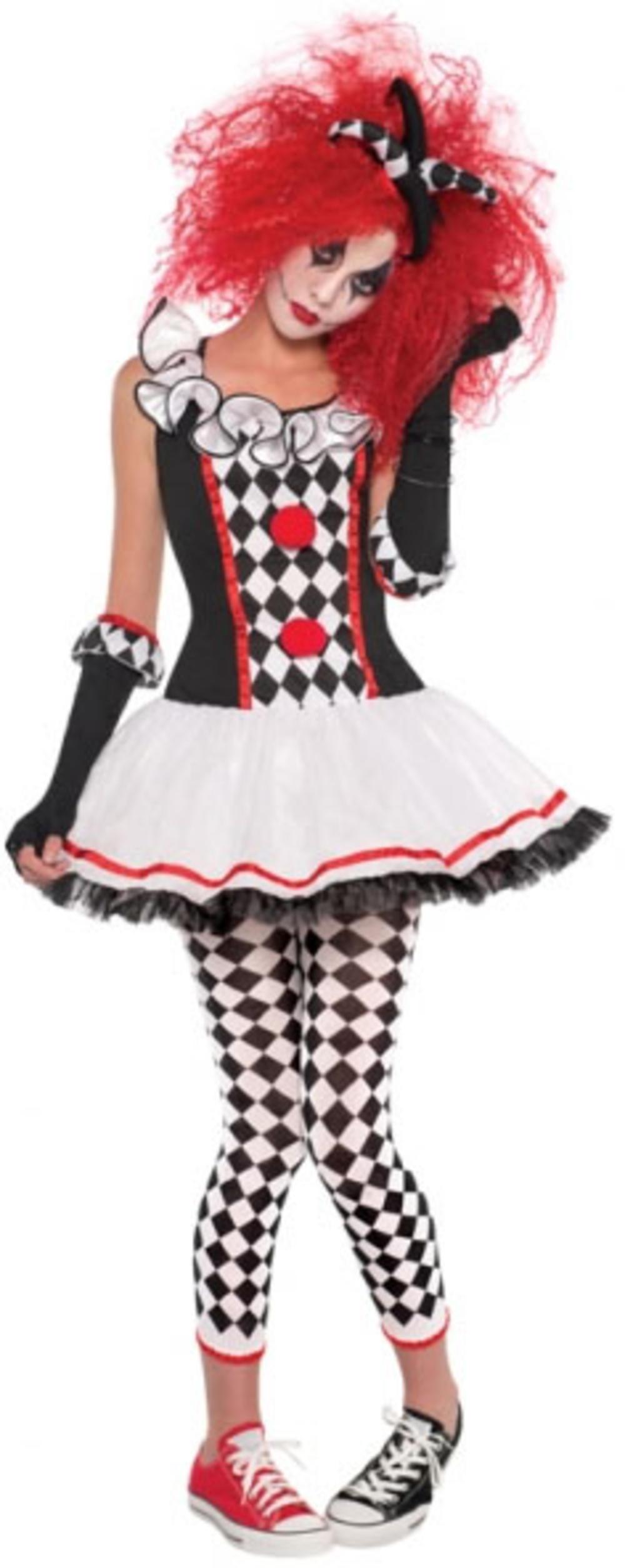 Harlequin Honey Ladies Halloween Fancy Dress Circus Womens Jester Adult Costume