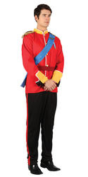 Prince William Royal Fairytale Military Uniform Mens British Fancy Dress Costume