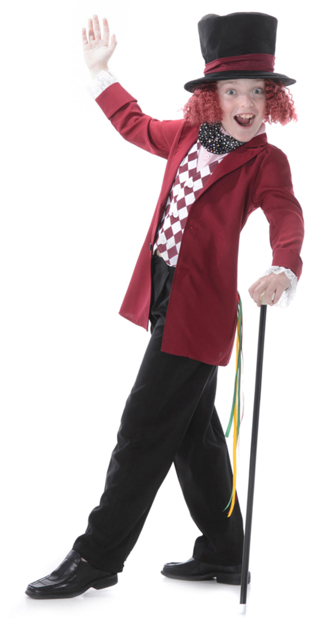 Mad Hatter Boys Fancy Dress World Book Day Week Childs Kids Costume Outfit