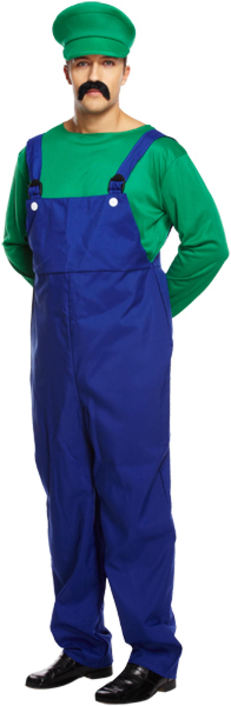 Green Super Workman Mens Costume