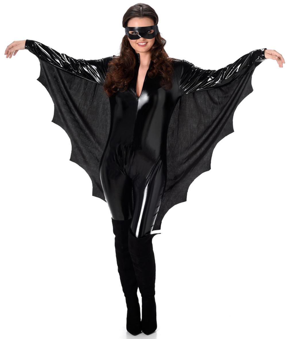 Vampire Bat Ladies Fancy Dress Halloween Spooky Animal Womens Adults Costume New