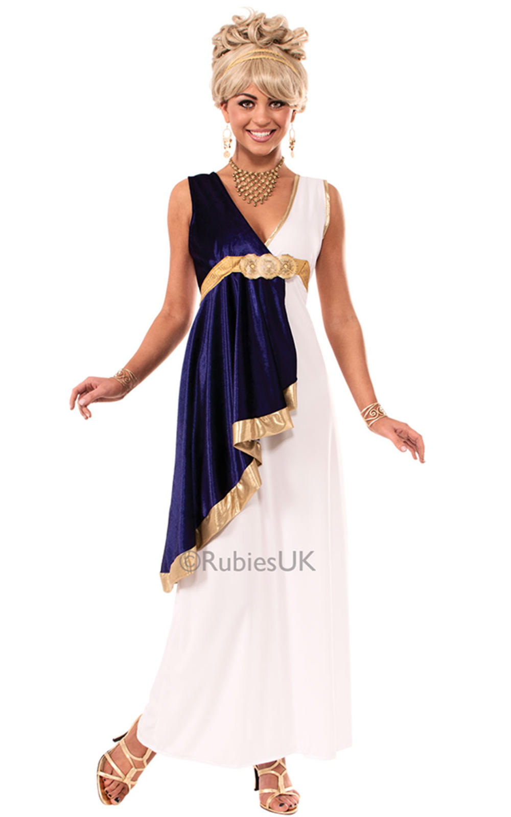 Grecian Maiden Ladies Fancy Dress Roman Toga Party Womens Adults Costume Outfit