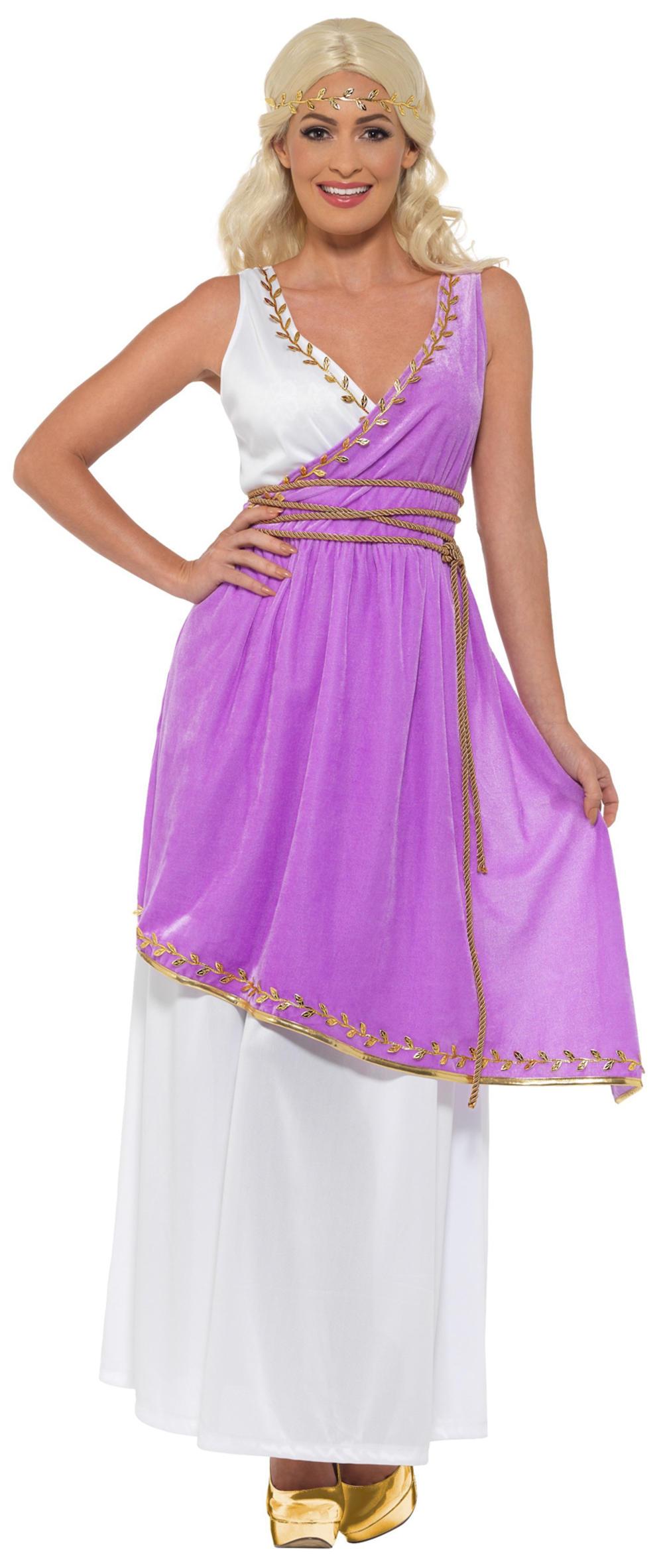 Grecian Goddess Ladies Fancy Dress Ancient Roman Greek Womens Adults Costume New