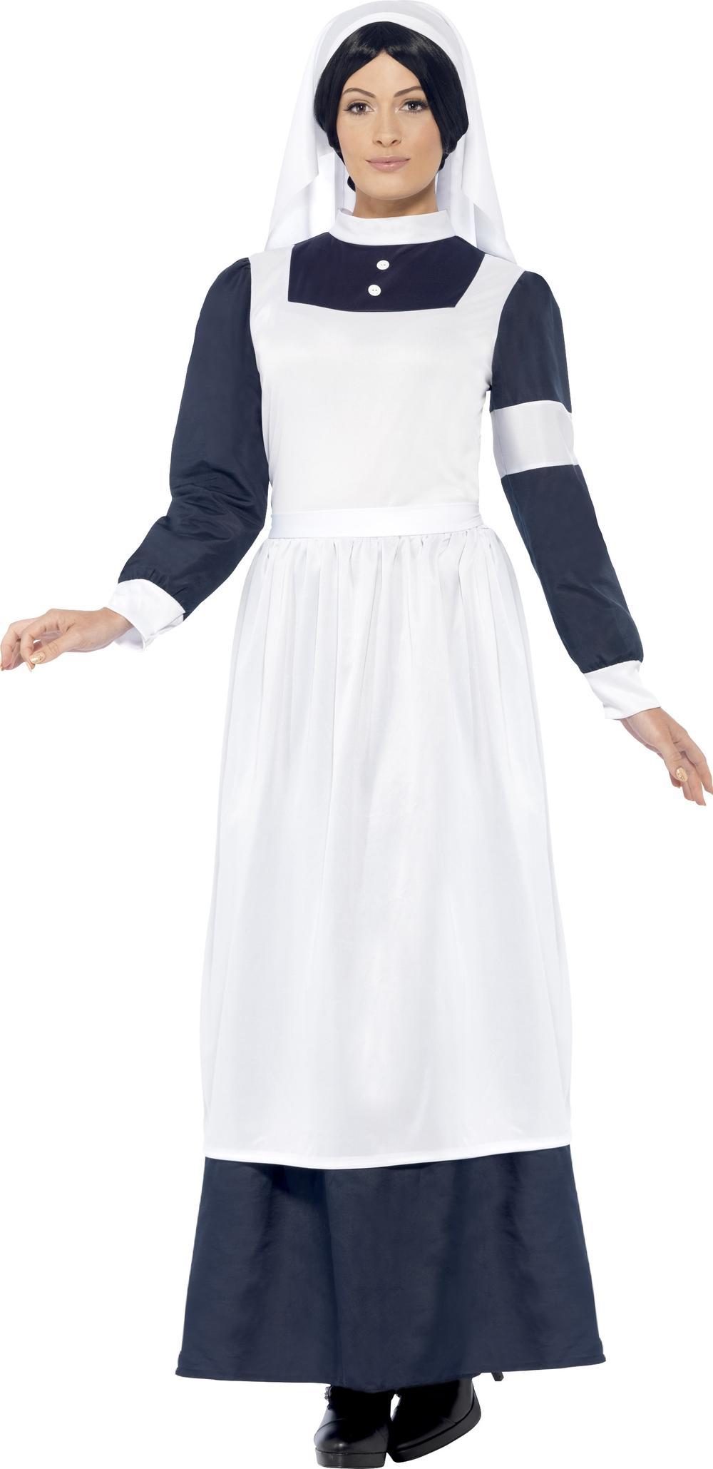 Great War Nurse Ladies Fancy Dress Victorian Dickens Book Day Adults Costume New