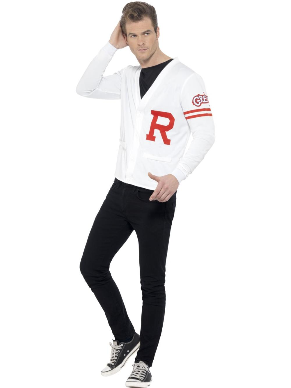 Grease Rydell Prep Mens Fancy Dress 1950s High School Character Adults Costume