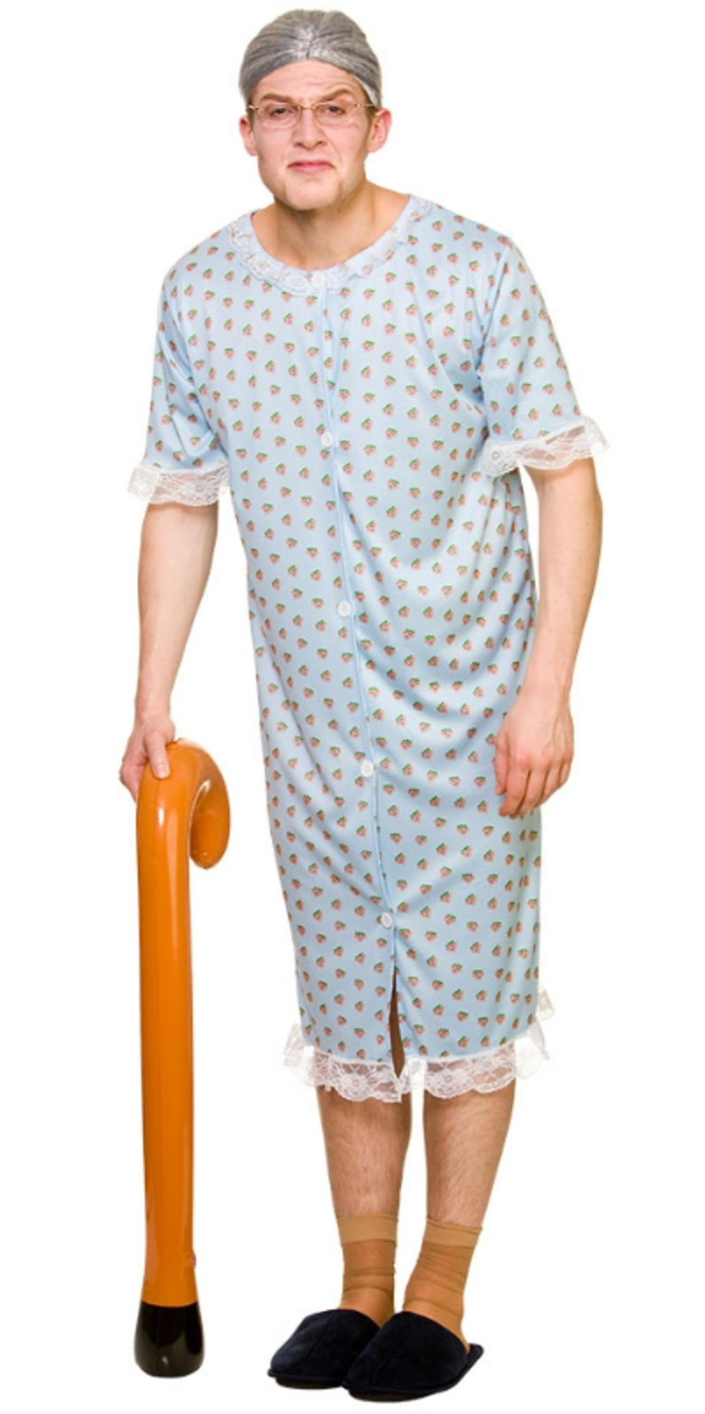 Granny Mens Fancy Dress Novelty Funny Humour Fairytale Stag Nanny  Adult Costume