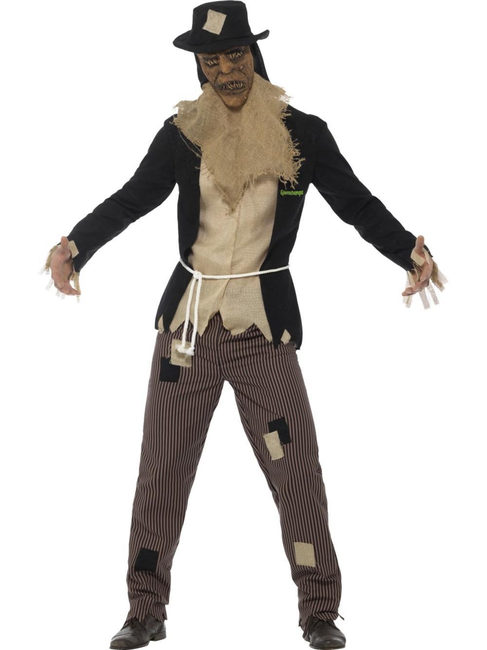 Scary Scarecrow Mens Fancy Dress Goosebumps Halloween Adult Creepy Costume New