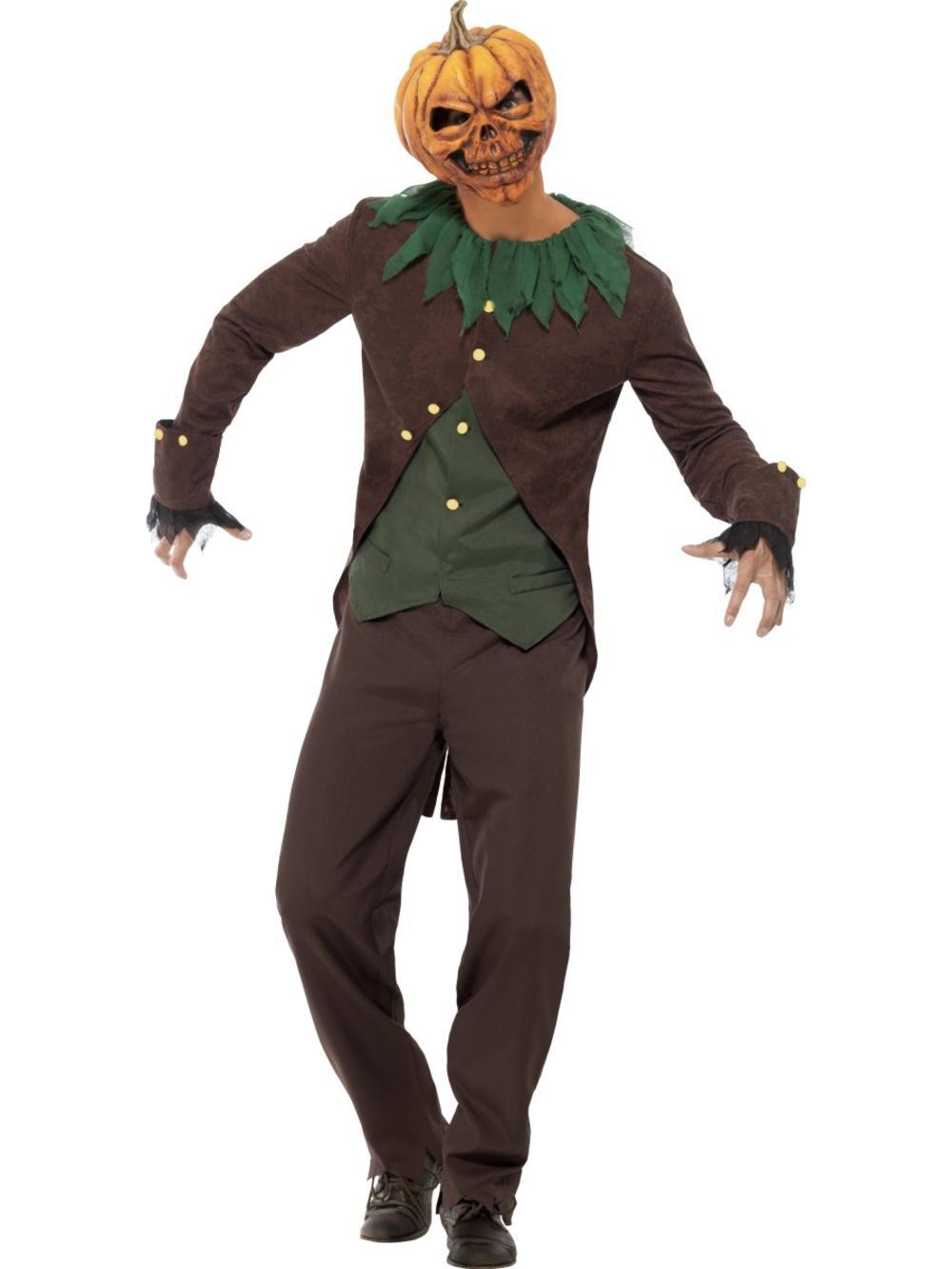 Goosebumps Jack O' Lantern Mens Fancy Dress Halloween Pumpkin Adults Costume