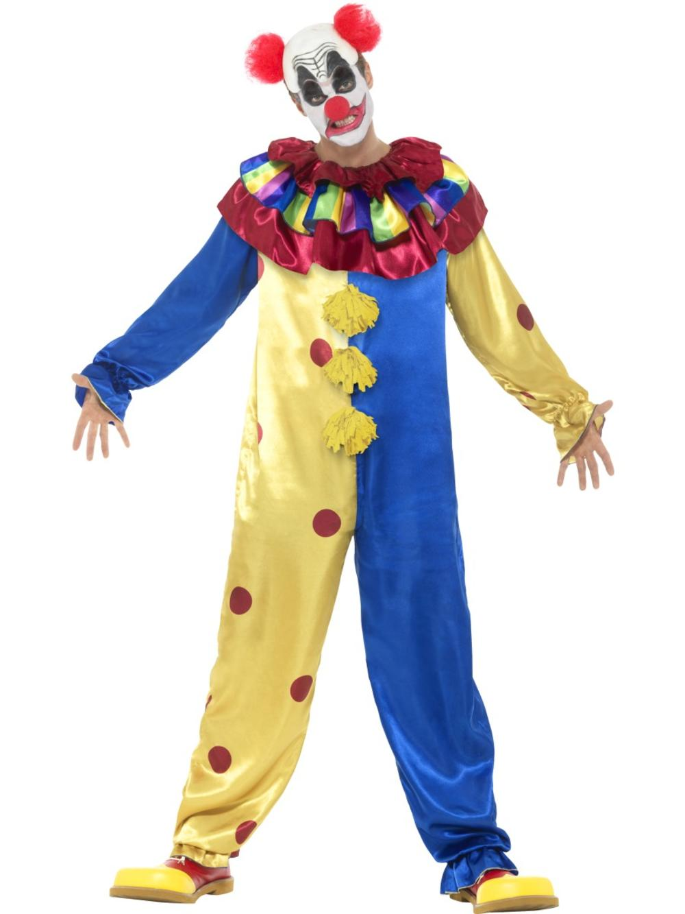 Goosebumps Clown Fancy Dress Halloween Spooky Horror Circus Adults Costume New