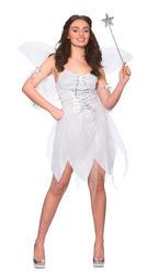 Good Fairy Ladies Fancy Dress Christmas Angel Womens Adults Halloween Costume