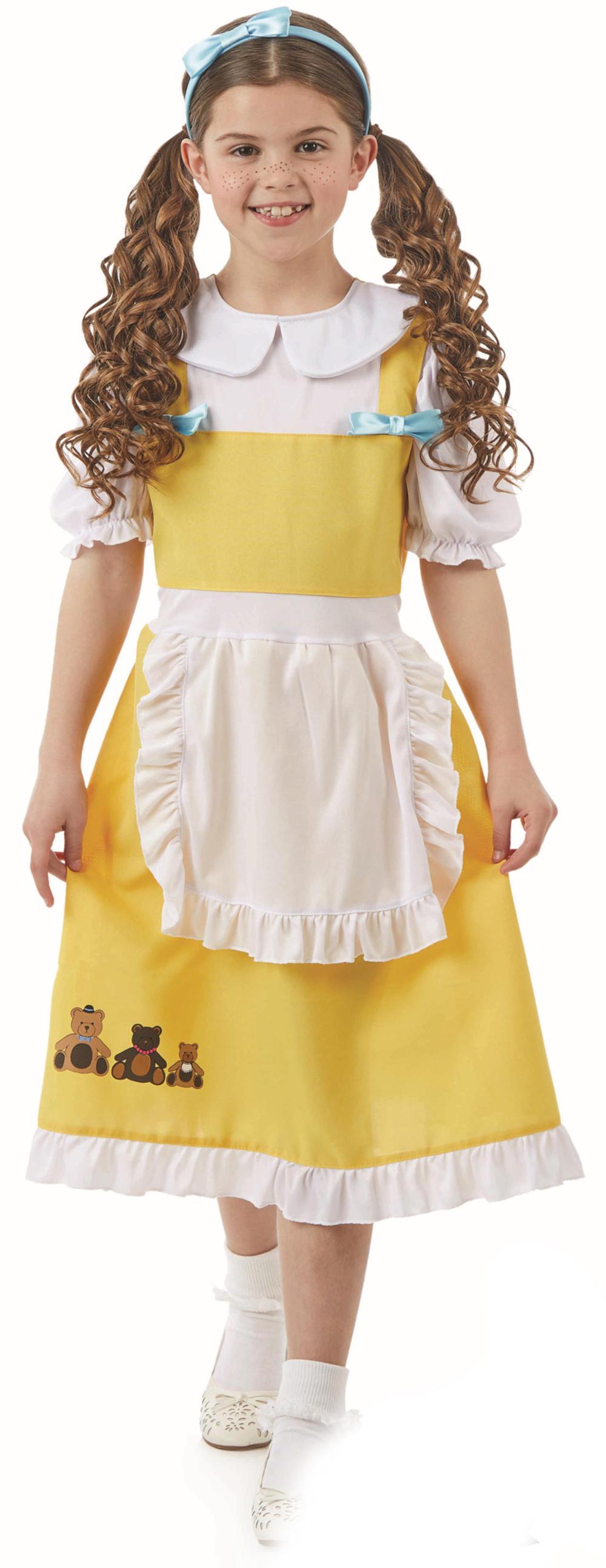 Goldilocks Girls Fancy Dress Fairy Tale Book Day Week Kids Childrens Costume New