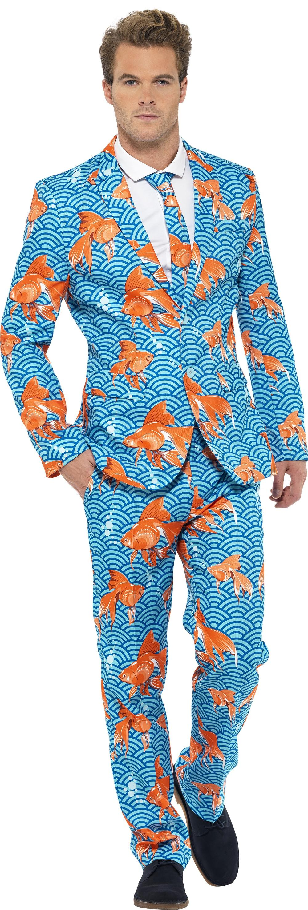 Deluxe Goldfish Stand Out Suit Mens Fancy Dress Novelty Adults Costume Outfit