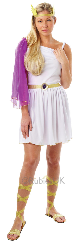 Greek Goddess Fancy Dress Ladies Roman Grecian Toga Party Womens Adult Costume