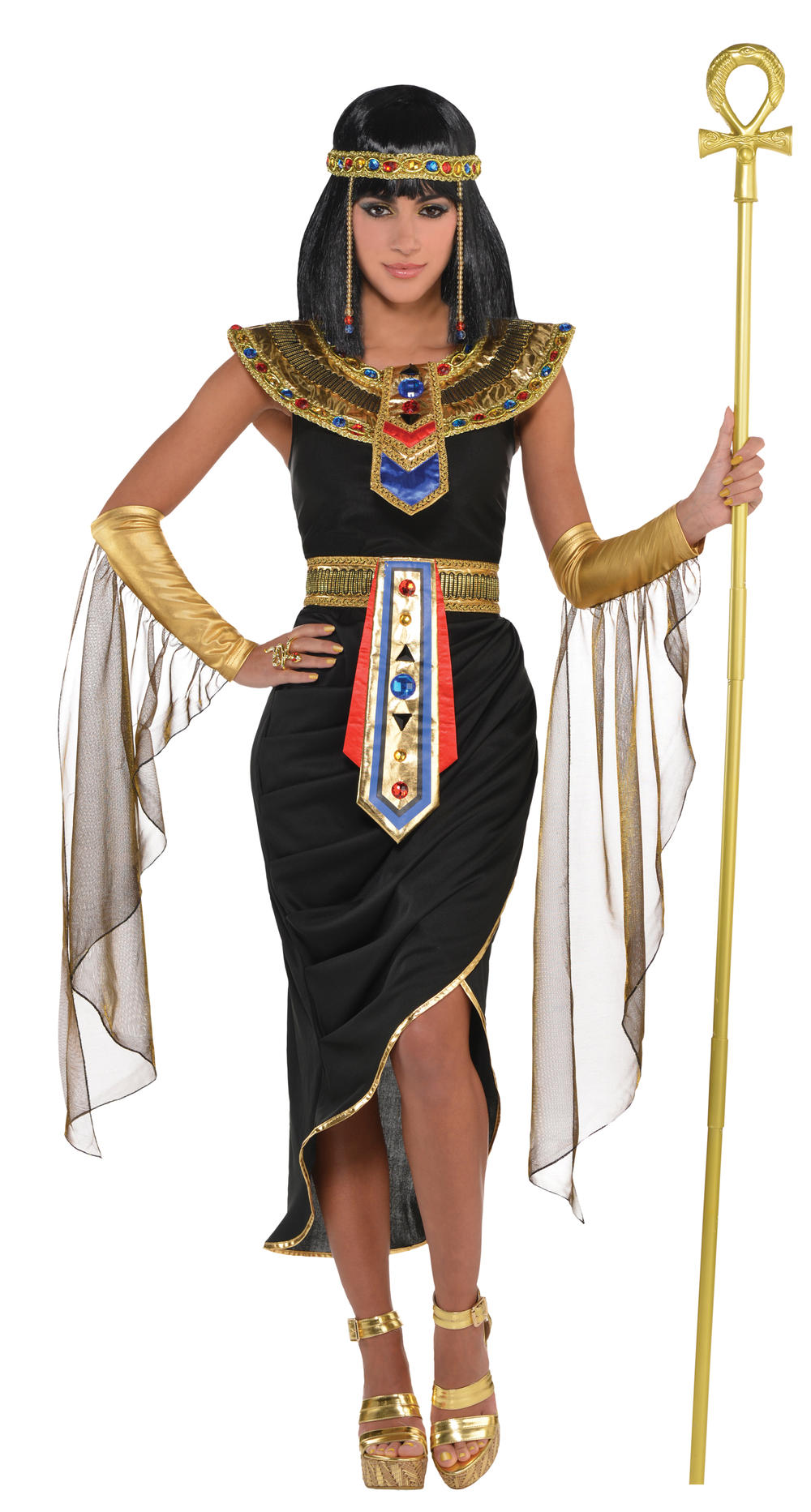 Egyptian Queen Ladies Fancy Dress Ancient Egypt Cleopatra Womens Ladies Costume