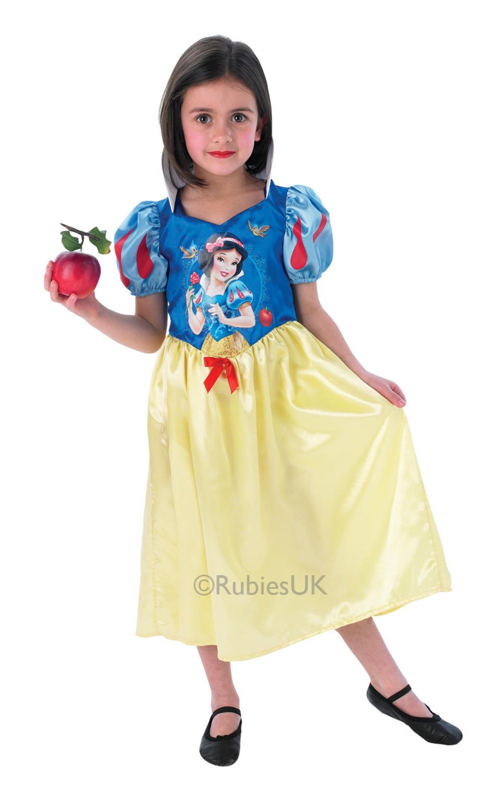 Snow White Girls Fancy Dress Princess Fairytale Story Book Kids Child Costume