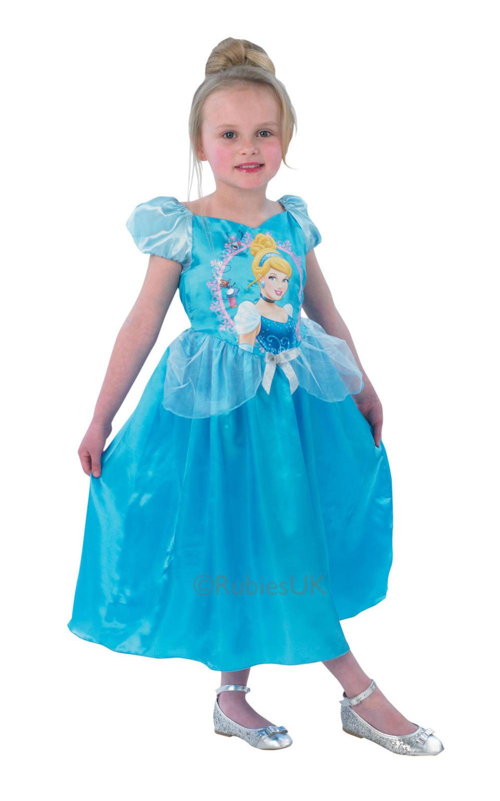 Cinderella Princess Girls Fancy Dress Disney Fairytale Kids Child Costume Outfit