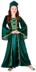 Medieval Tudor Princess Girls Fancy Dress Childs Book Character Kids Costume New